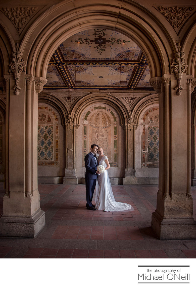 Central Park NYC Bethesda Terrace Wedding Photos