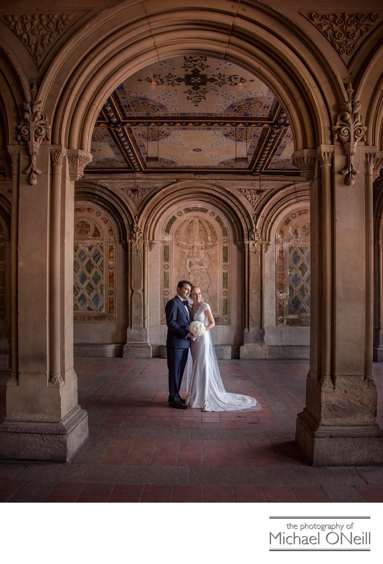 Central Park Wedding Photography: Central Park NYC Bethesda Terrace Wedding Photos