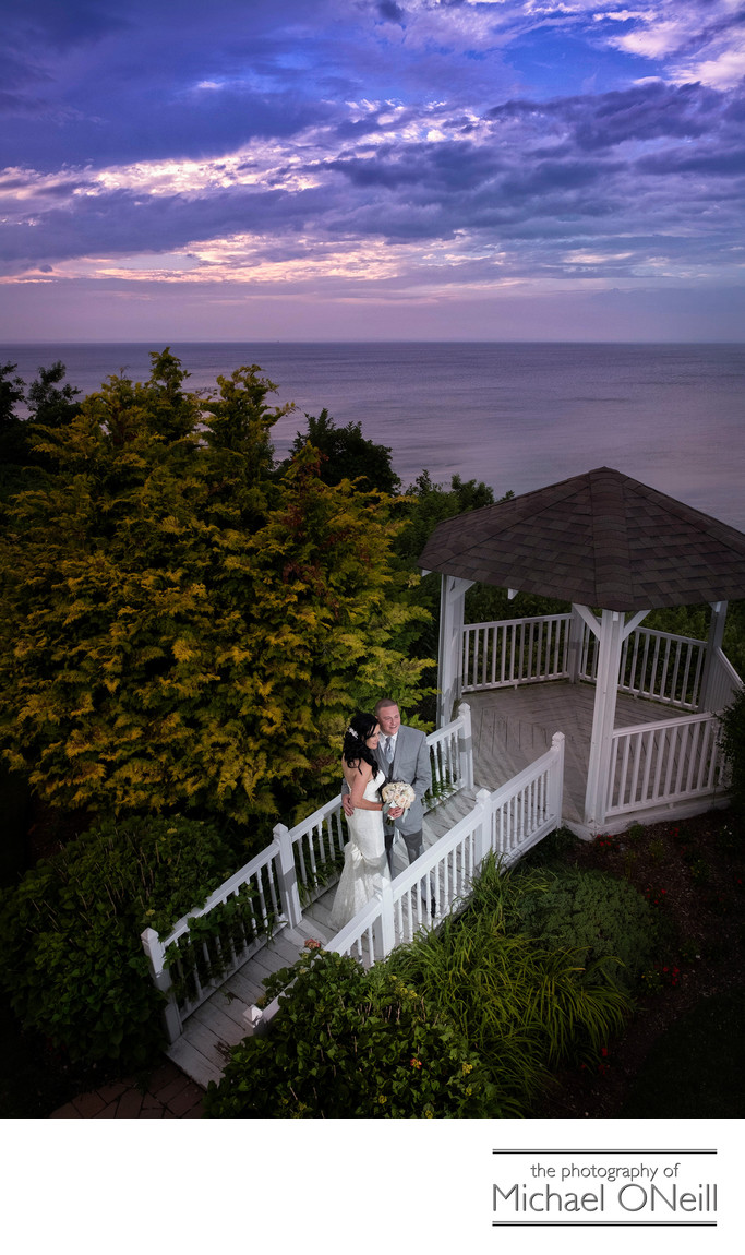 Lombardi's on the Sound Sunset Wedding Pictures