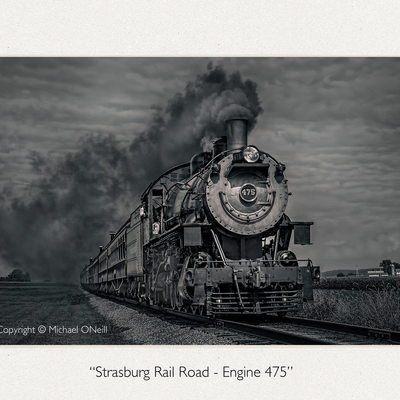 Vintage Strasburg Steam Locomotive Fine Art Photograph