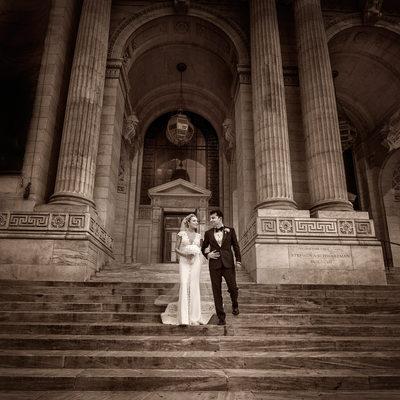 NYC Library Wedding Photography New York City