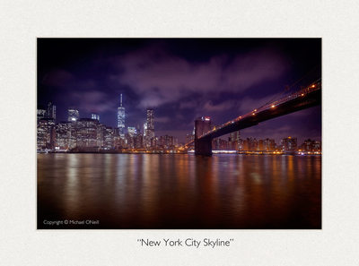 Collectible Fine Art Photography NYC Skyline Brooklyn Bridge