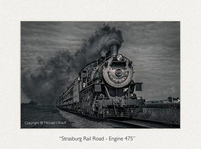 Vintage Strasburg Steam Locomotive Fine Art Photograph
