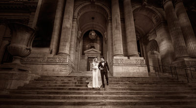 NYC Library Wedding Photography New York City