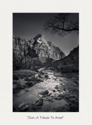 Zion National Park Ansel Adams Inspired Fine Art Photograph