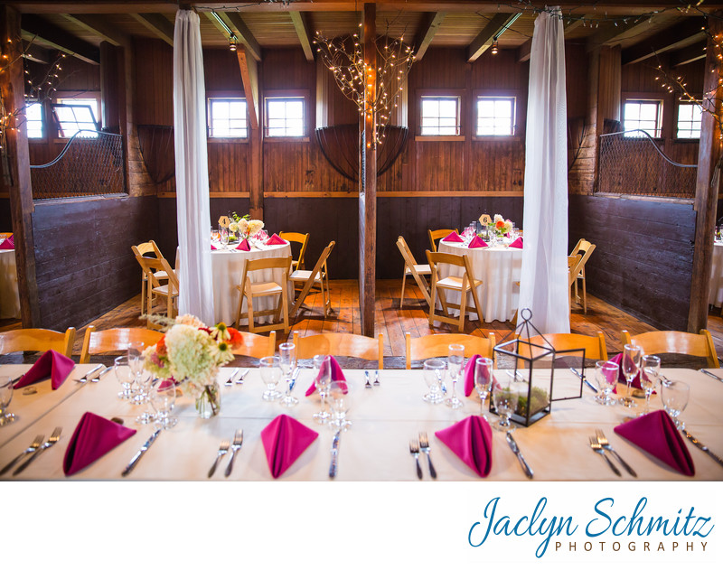 Horse stall wedding reception barn venue Vermont
