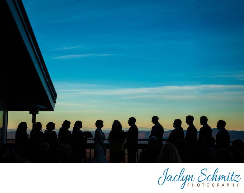 cliff house wedding ceremony