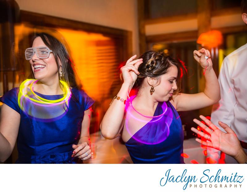 glow stick wedding reception