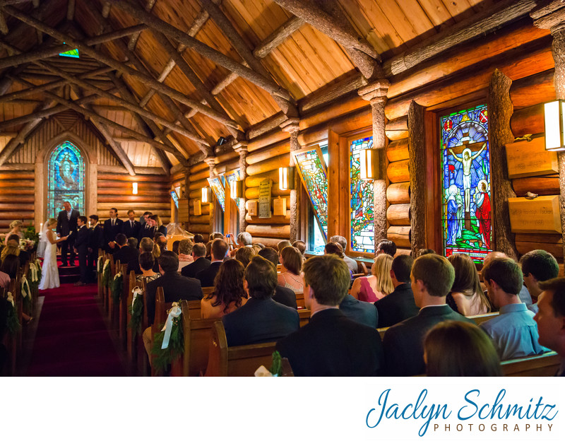Wood log cabin wedding ceremony NY