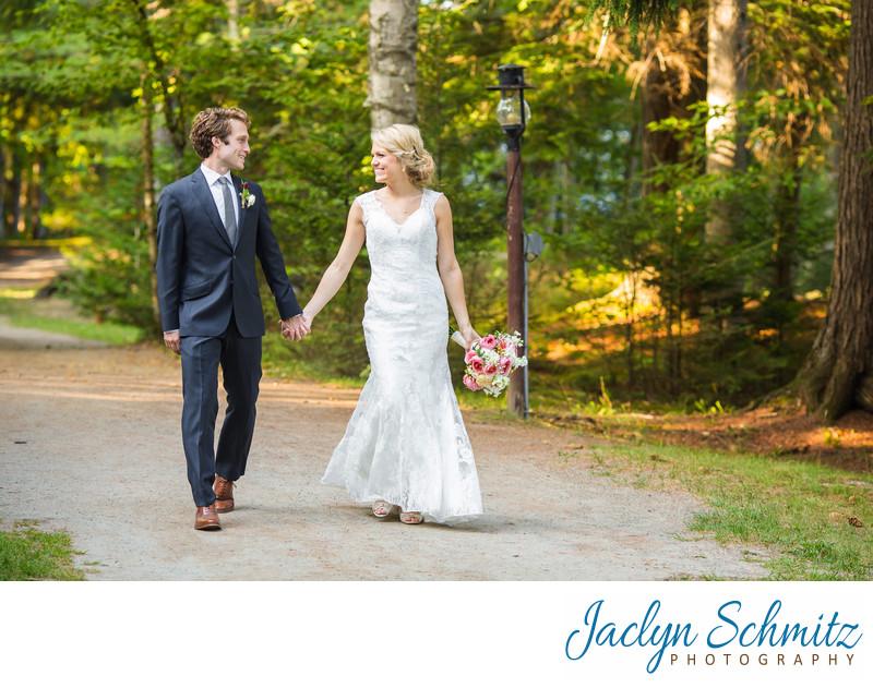 woodsy wedding portraits Upstate New York