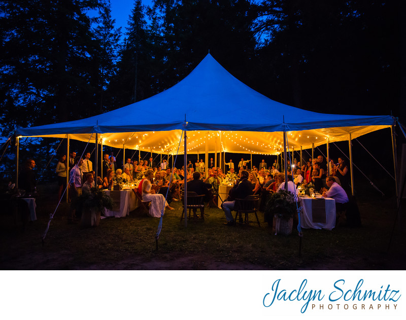 Dinner under the stars New York Camp Wedding