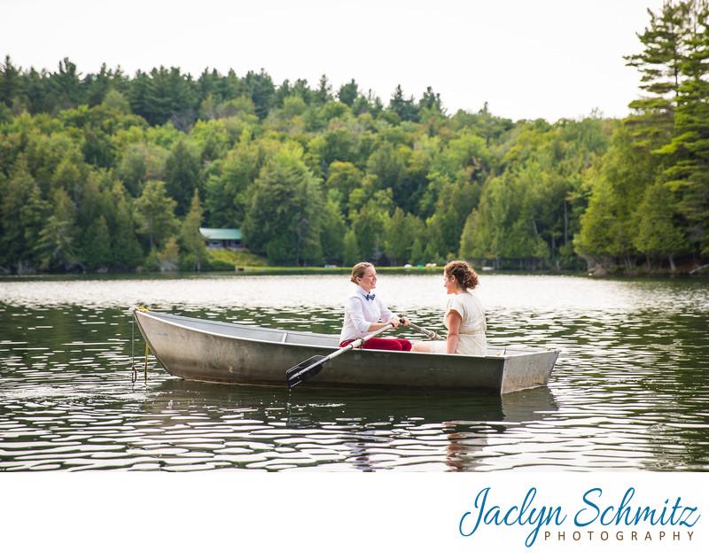 lake wedding Northeast Kingdom VT