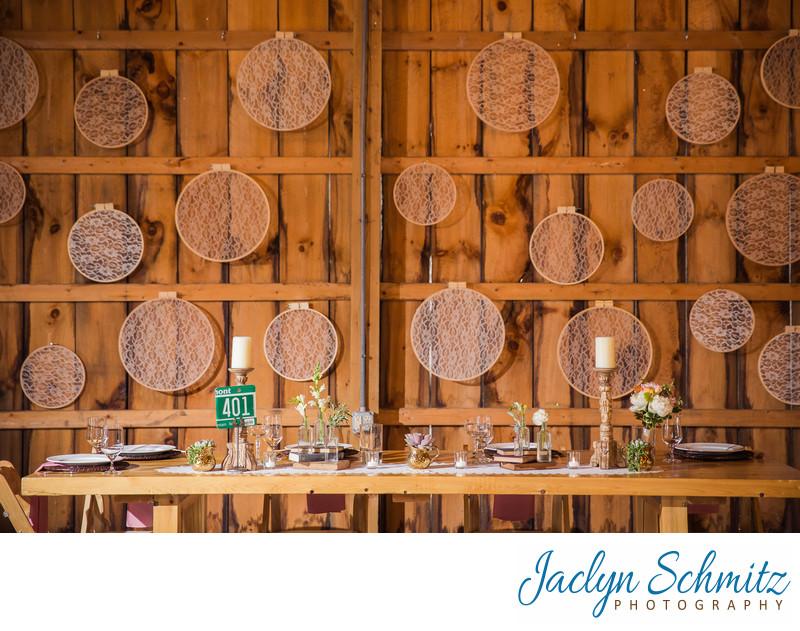 vintage wedding reception vermont