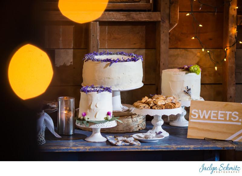 Vintage cake display southern wedding VT