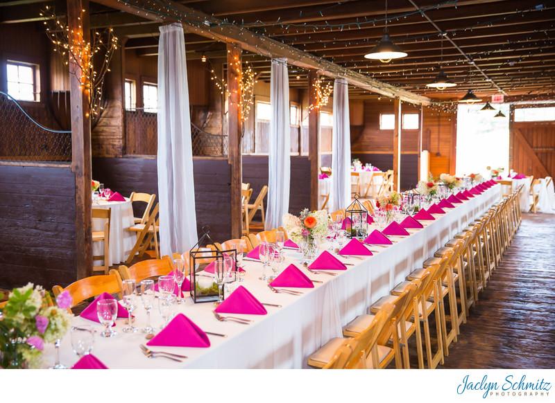 Horse stable wedding reception