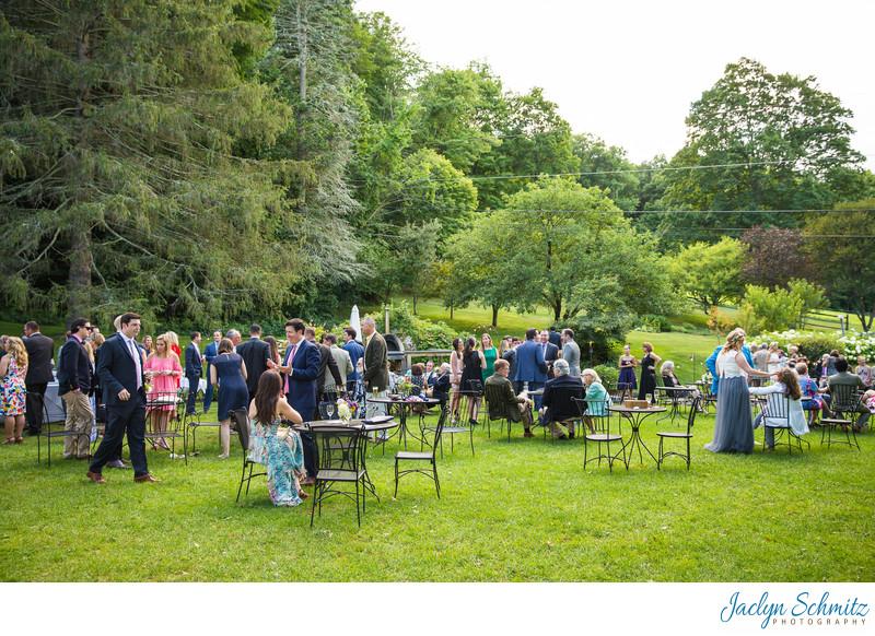 Outdoor cocktails VT wedding