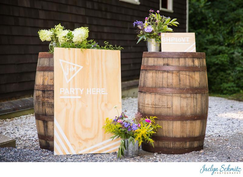 Wine barrel decor Vermont