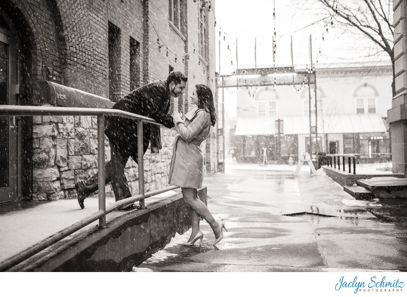 Romantic Alley Engagement Session