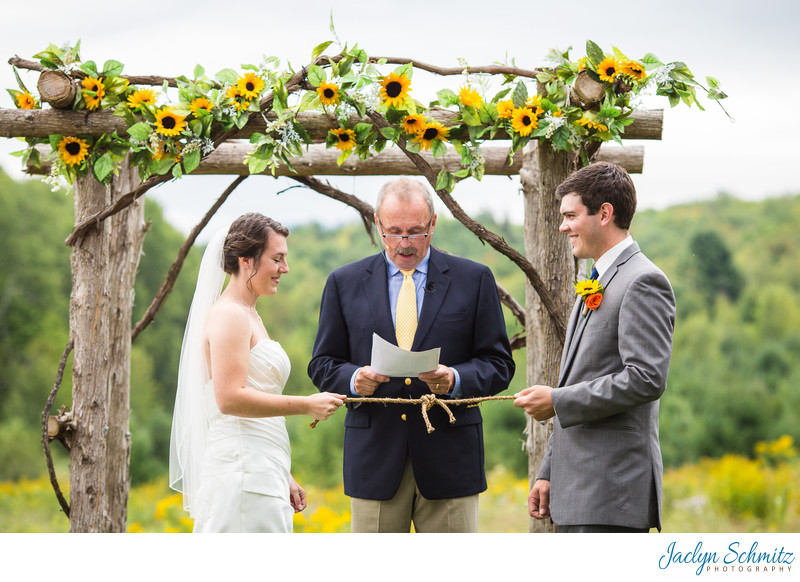 Knot tying wedding tradition