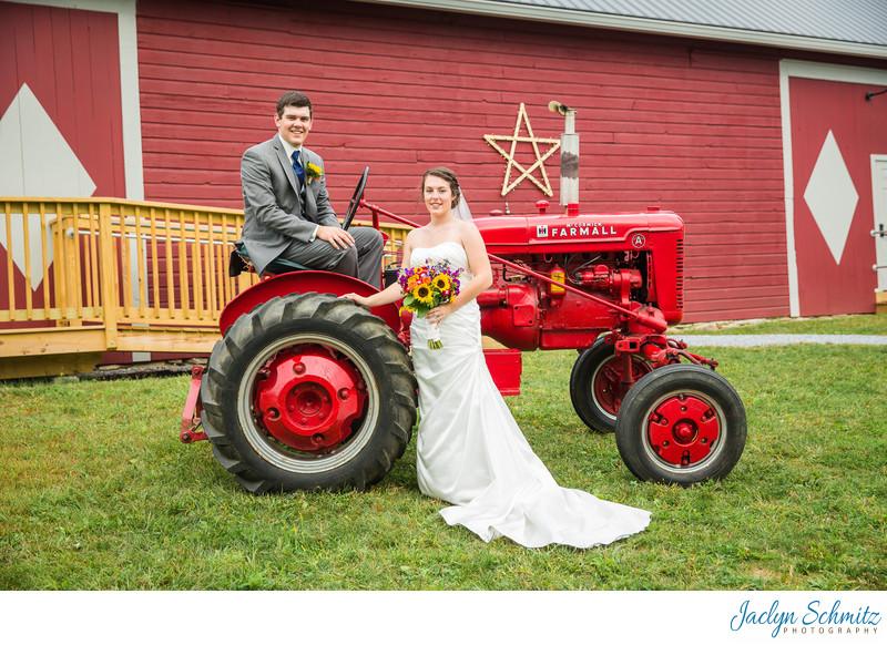 Tractor wedding photos VT