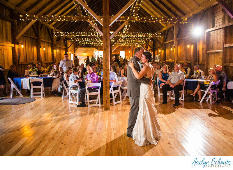 Mansfield Barn reception photos