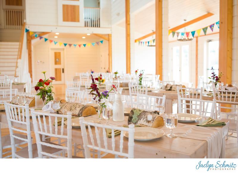 Brand new white wedding barn Vermont