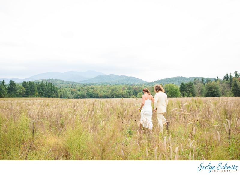 Field of wheat wedding portraits VT