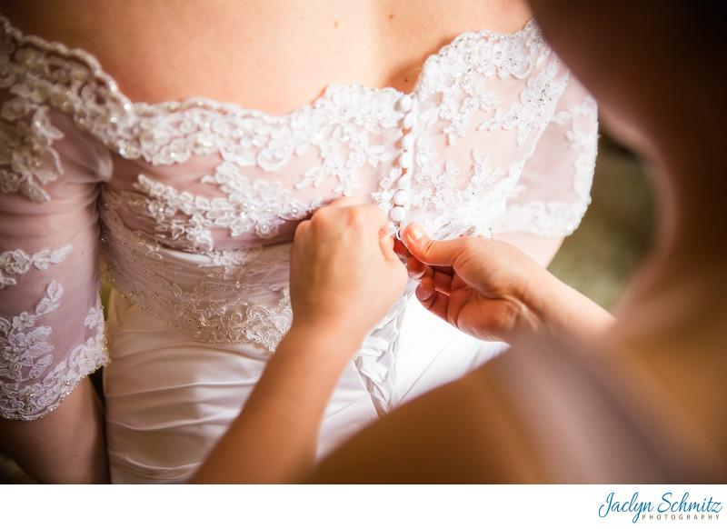 Lace bolero wedding dress