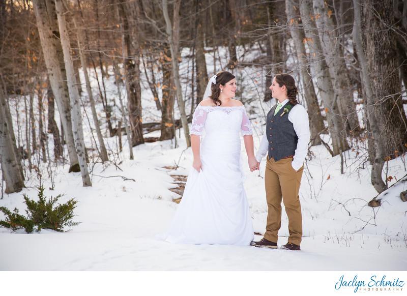 Winter gay wedding VT