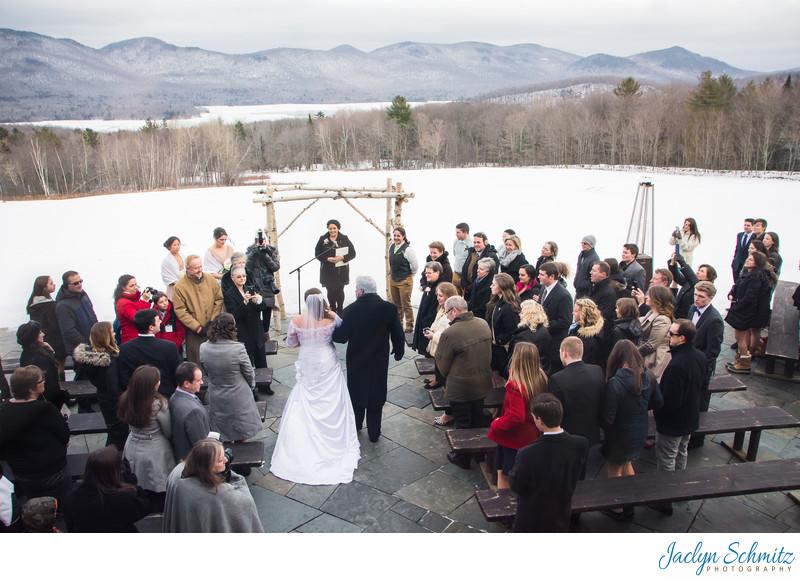 Mountain Top Inn The Terrace wedding ceremony