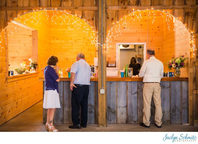 Bar inside Franklin County Field Days