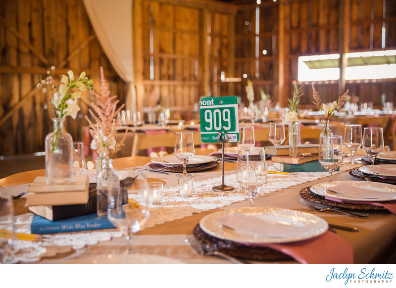 Creative Vermont table numbers