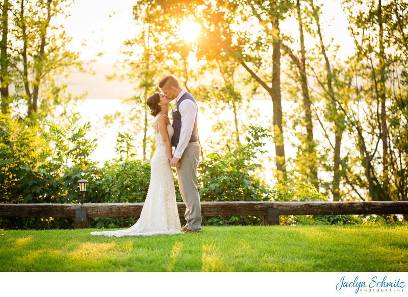 Sunset Lake Champlain Wedding Photos
