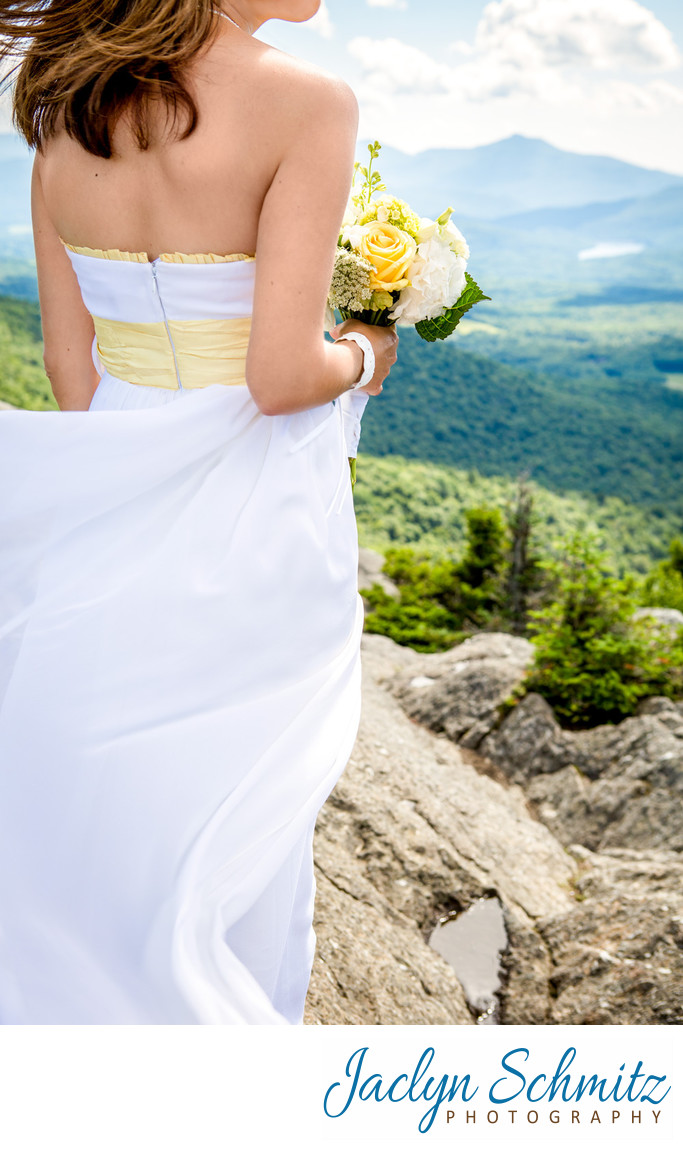 Stowe Pinnacle Wedding Hike Vermont Photographer