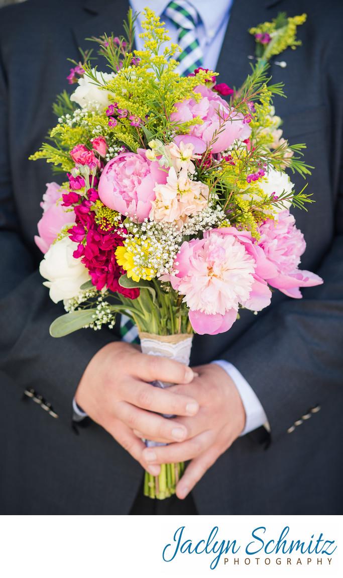 country wildflower wedding bouquet Vermont