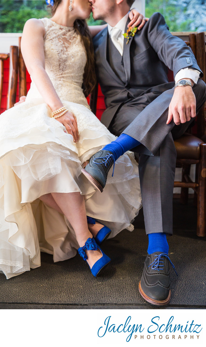 coordinating bride and groom colors