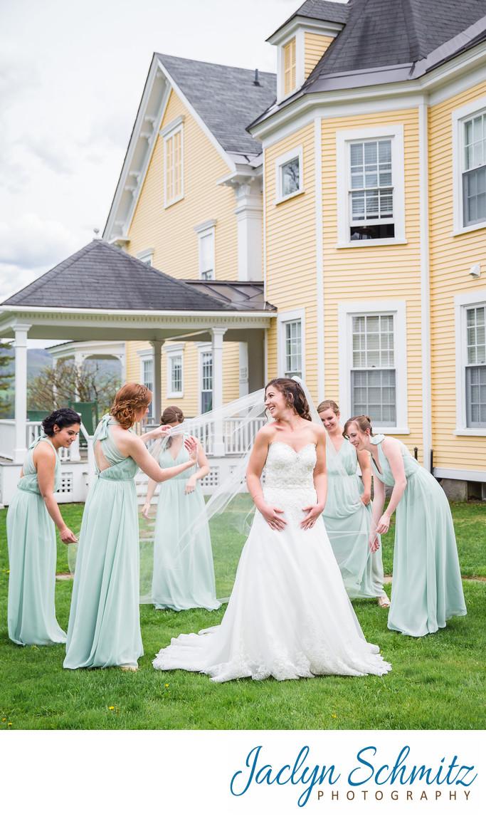 Inn at Mountain View Farm spring wedding photos