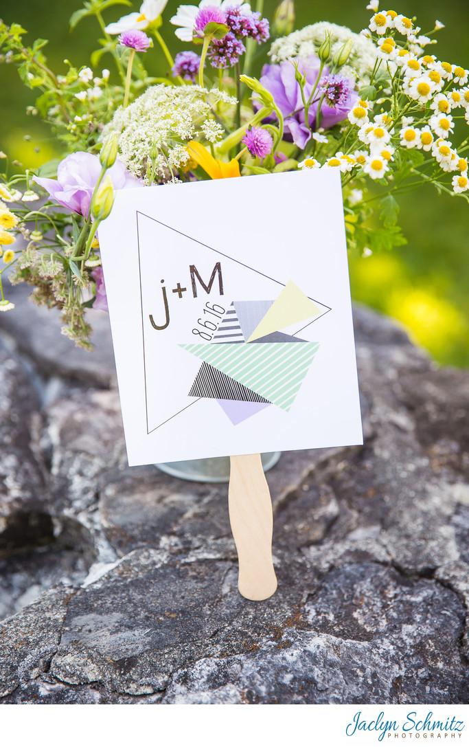 Graphic designer bride wedding invitation