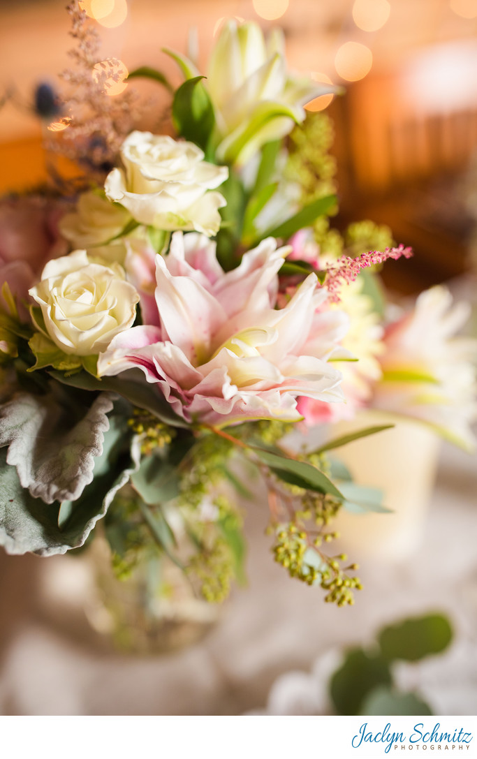 Soft pink wedding flowers vermont
