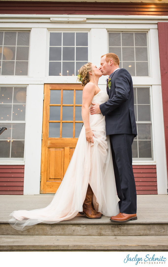 Cowboy boot wedding vermont