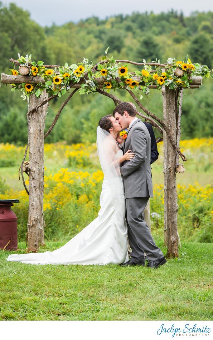 Wildflower wedding ceremony VT