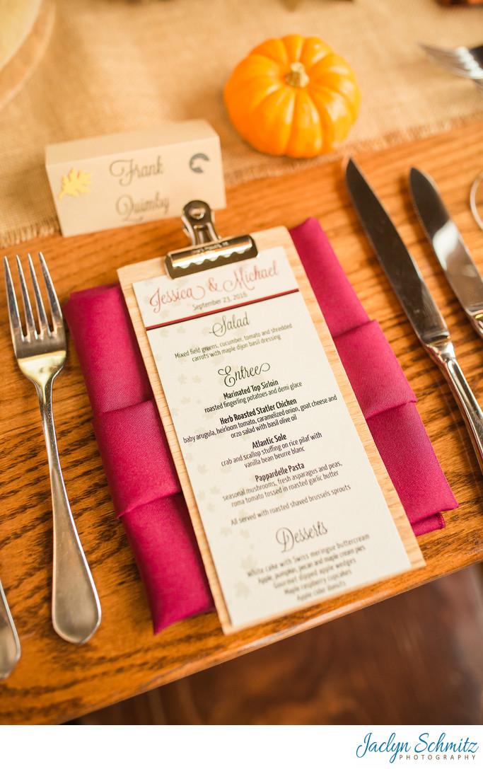 Mountain Top Inn wedding catering menu