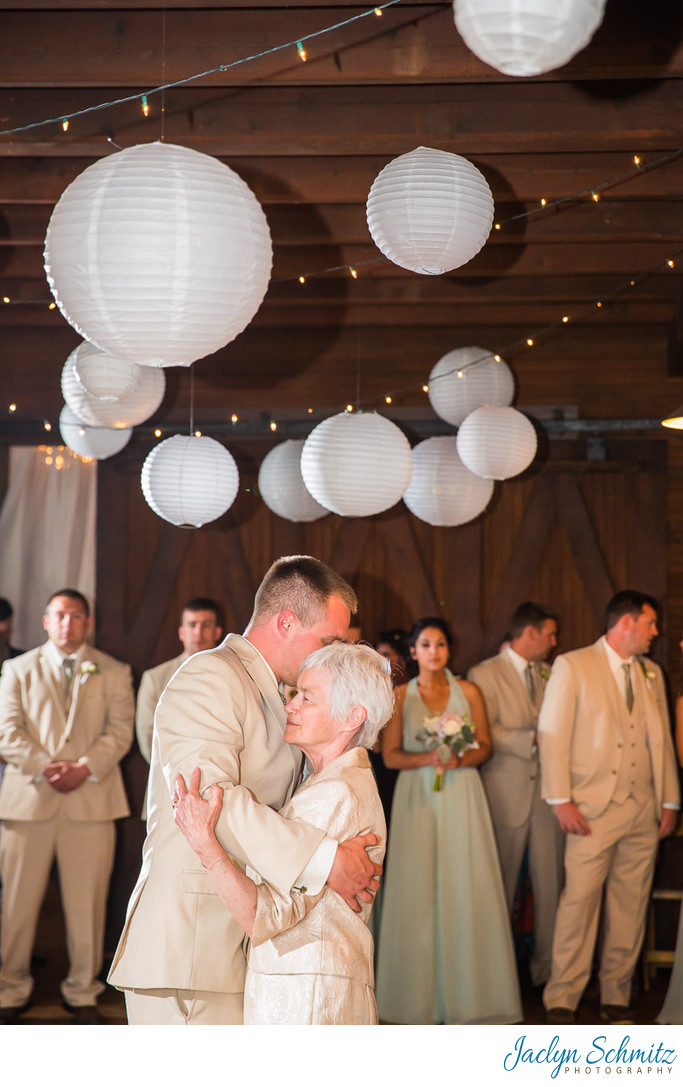 White lanterns wedding reception