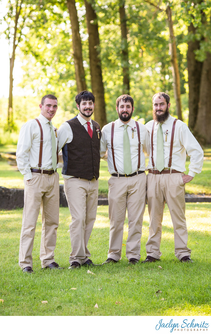 Tan and light green groomsman colors