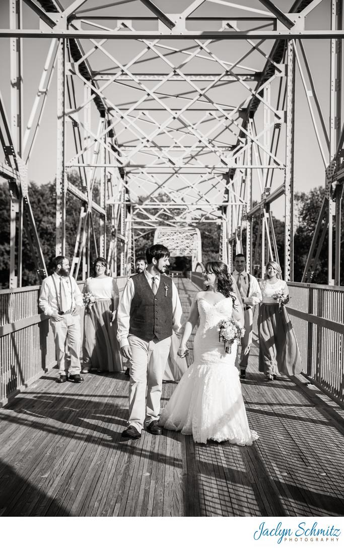 Bridge wedding portraits Highgate VT