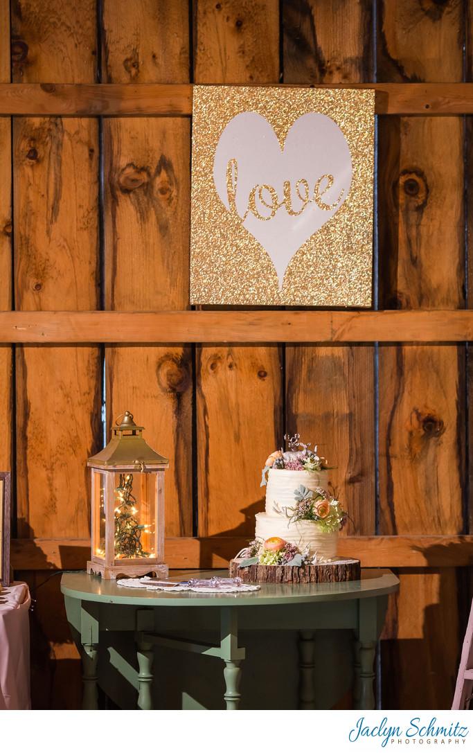 Glitter art wedding decor ideas