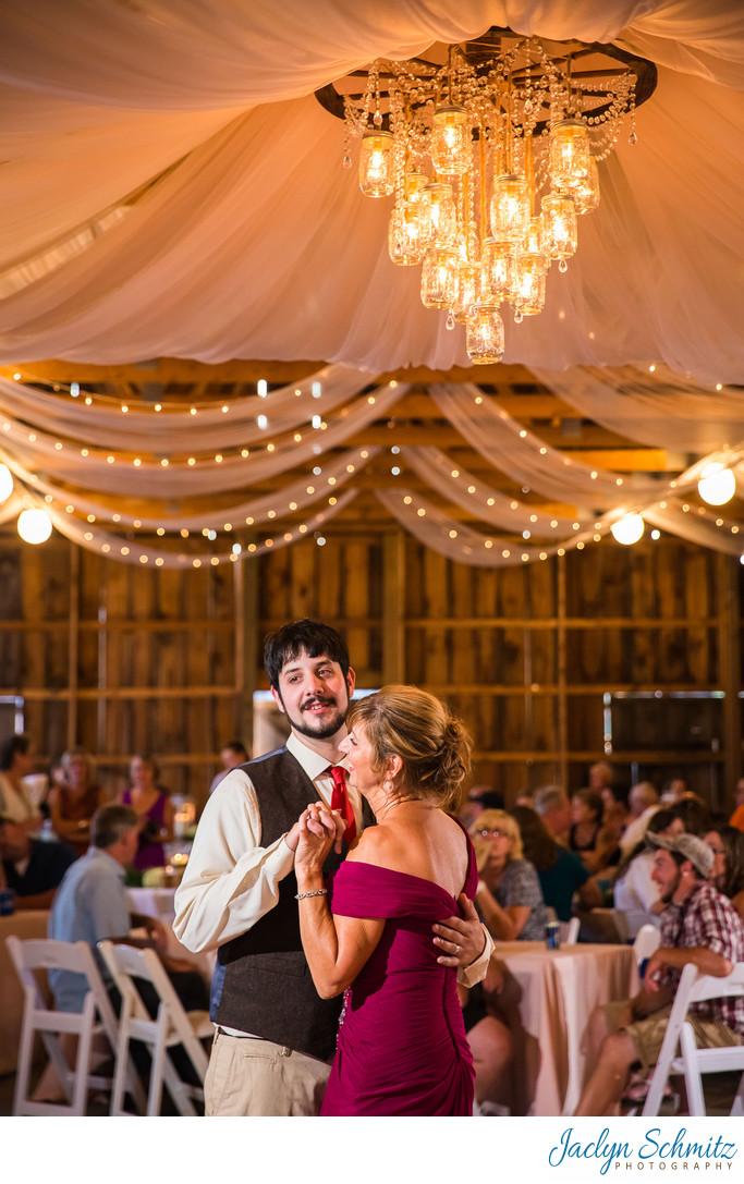 DIY mason jar wedding chandelier