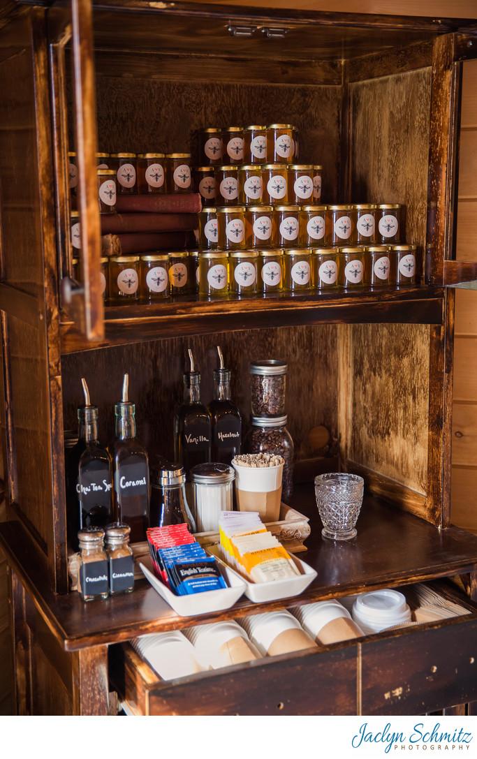 Vintage coffee station wedding ideas