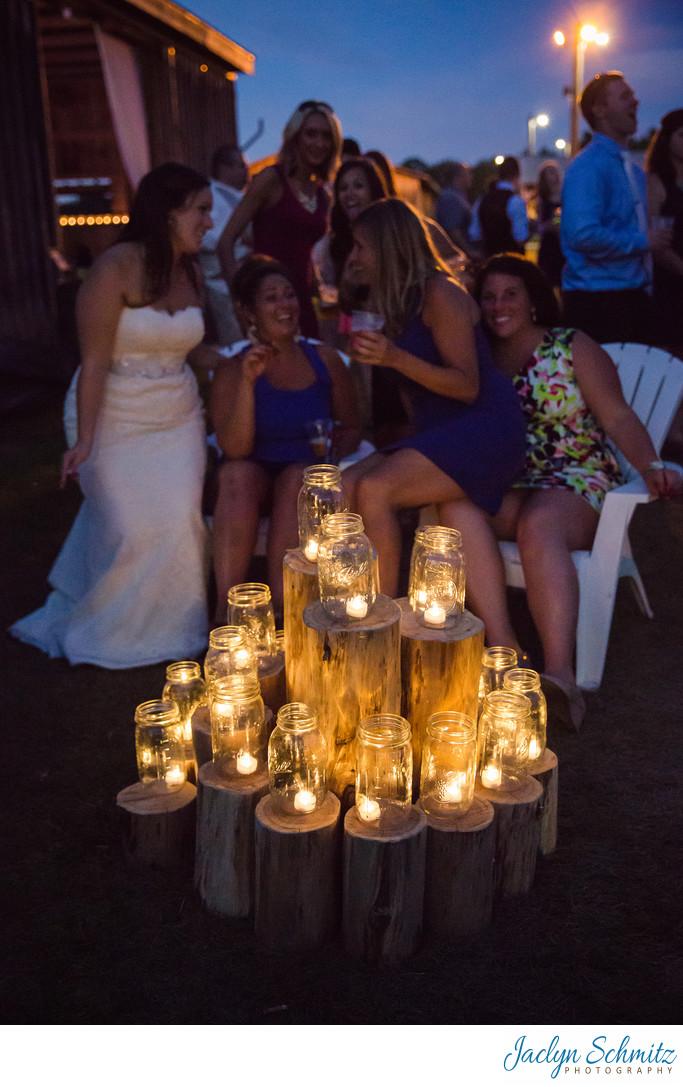 Faux firepit wedding ideas