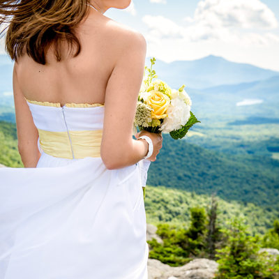 Stowe Pinnacle Wedding Hike Vermont Photographer